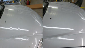 before and atter pictures of dent repair